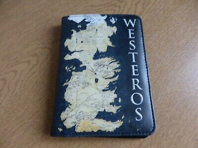 Game Of Thrones Westeros Map Passport Documents Wallet Holder New Unused Gift