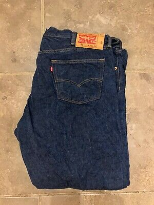 Mens Levis Levi Strauss 501 Red Tab Regular Fit - W 46 L 34 - Indigo Blue