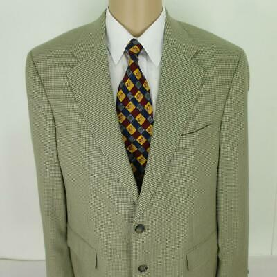 42 R Brooks Brothers Beige Gray Silk Wool 2 Btn Mens Jacket Sport Coat Blazer