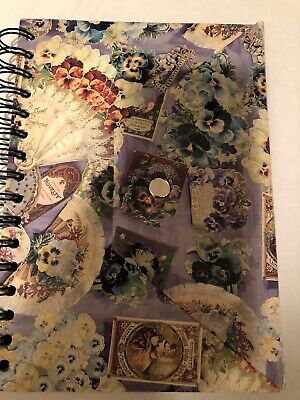 Victorian Purple Spiral Journal Snap Closure Pretty!