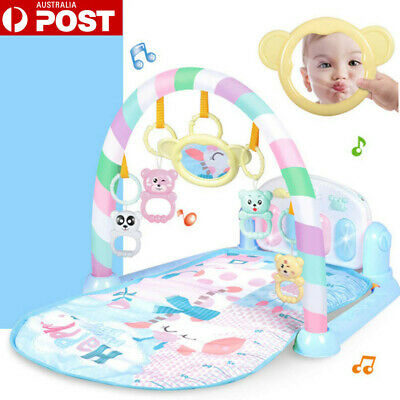 3-in-1 Plastic Baby Gym Play Mat Lay Play Fitness Fun Piano Light Musical Toy AU