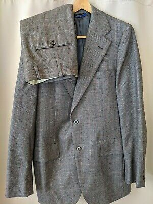 Brooks Brothers Gray 2 Button Wool Suit Glen plaid VINTAGE Sz 40R Excellent! EUC