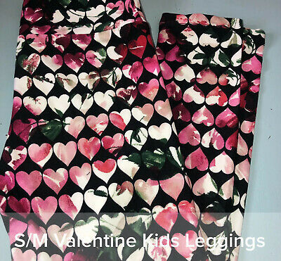 LuLaRoe Leggings~Kids~S/M~NWT~Love Stories~Valentines Ombré Hearts ~FAST Ship