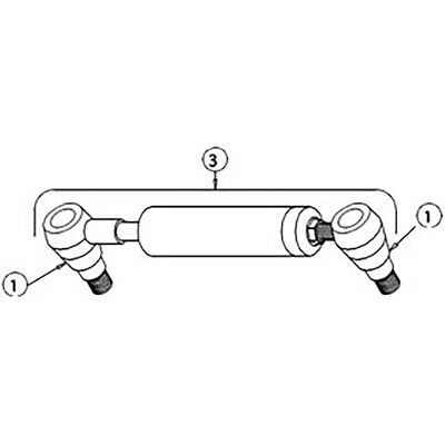 511562M1 Power Steer Steering Cylinder For Massey Ferguson 2200