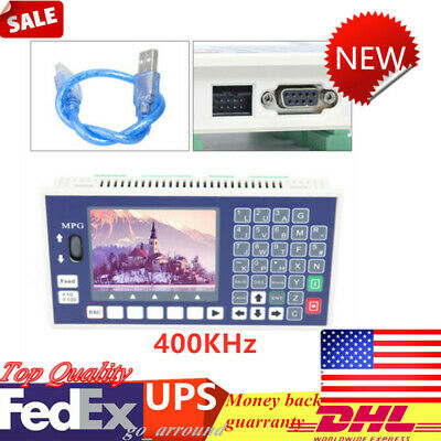 4 Axis LCD CNC Motion Controller System 400KHz TC55H Offline Servo Stepper NEW