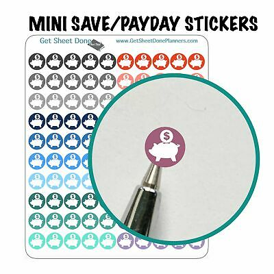 PAYDAY ICON PLANNER STICKERS Bullet journal hobonichi erin condren happy ec