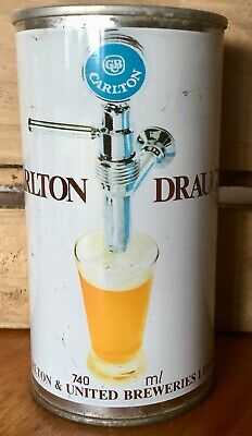 Carlton Draught. 740ml. Straight Steel. Beer Can.