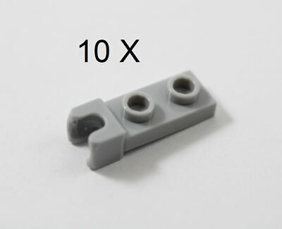 10 NEW LEGO Plate Modified 1 x 2 with Long Towball black