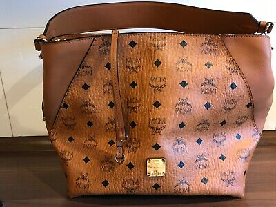 MCM KLARA VISETOS hobo medium cognac, Zwei Mal Getragen, Top