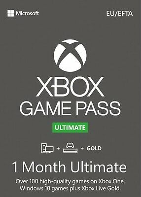 Xbox Game Pass Ultimate 1 Month Keys - Global - INSTANT Dispatch See Description