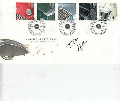 Stirling MOSS Signed Autograph First Day Cover (personalised) 1996 classic cars