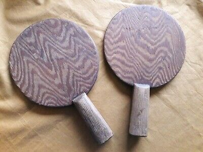 One pair of Very Old Wooden  Table Tennis bats.