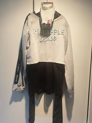 PINEAPPLE GIRLS GYM OUTFIT age 11-13 worn once with new leg warmers