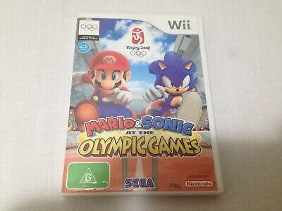Mario and Sonic At The Olympics - Wii - With Manual