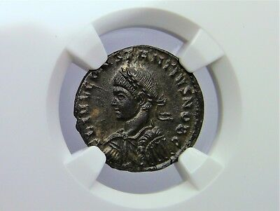 Roman Empire Constantius II, AD 337-361, NGC Graded MS * MINT STATE Ancient Coin