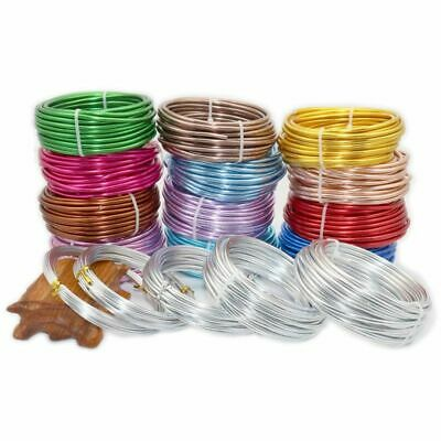 Aluminum Wire 3/2.5/2.0/1.5/1mm Jewelry Process Material Color Soft Wire 10-5m