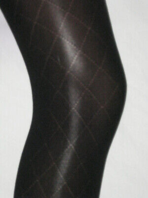 Girls Black Diamond Tights. Age 12-14 Opaque smart