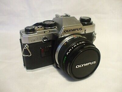 Olympus OM10 SLR 35mm Camera with 50mm lens, vintage , collectable