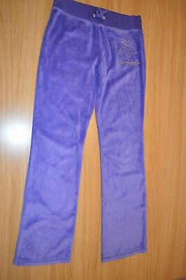 Pineapple Diamante Purple Jogging Bottom Tracksuit Loungewear 11-12