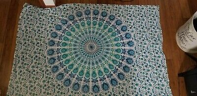 Authentic Bohemian Mandala Tapestry Wall Hanging Or Beach Throw Art
