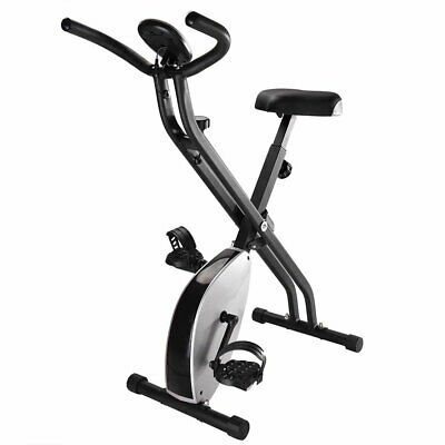 Foldable Exercise X Bike Magnetic Upright Bicycle Fitness Weight Loss Machine