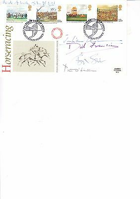 Multi Signed Horseracing First Day Cover Five Signatures