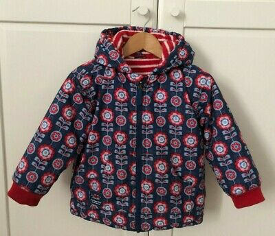 JOJO MAMAN BEBE Splish Splash Waterproof Fleece Lined Hooded Raincoat 3-4 years