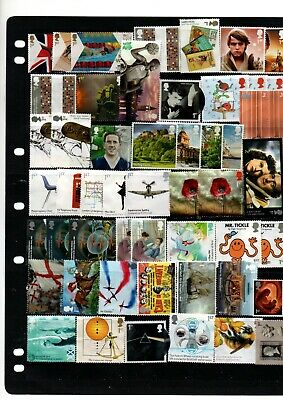 100 First Class Stamps Unfranked But With No Gum Gb Stamps Off Paper