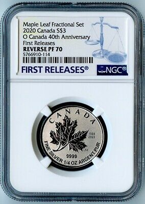 2020 Canada Ngc First Releases Reverse Pf70 Silver Maple Leaf S$3!