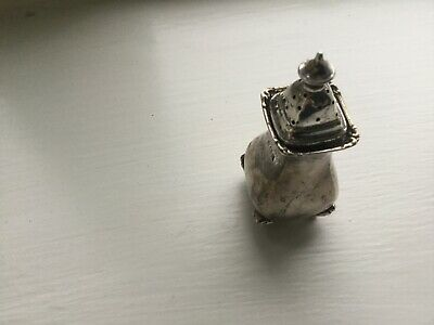 Solid Silver English Sterling Silver Pepperette 1913 H/M Birmingham