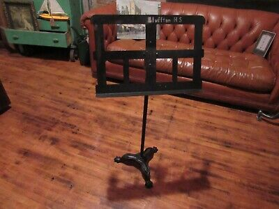 Vintage Industrial Style Music Stand Metal Cast Iron Base