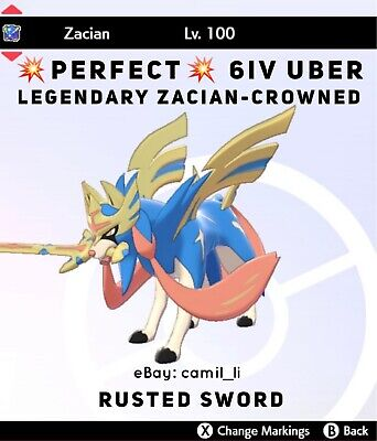 PERFECT 6IV ZACIAN W/ RUSTED SWORD Pokémon Sword and Shield (FAST DELIVERY)