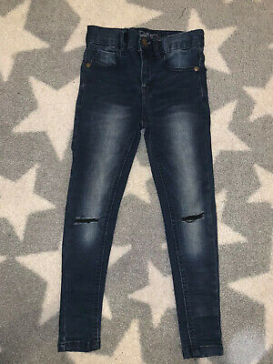 Boys Next Spray On Skinny Jeans Age 5 With Rips