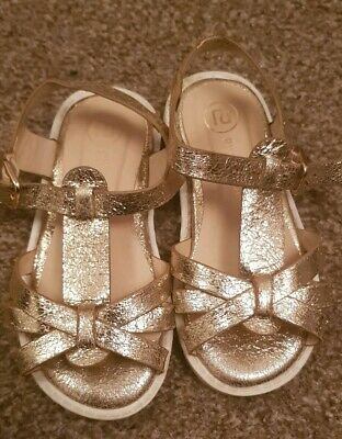 Girls glittery Sparkly pink River ISLAND Sandals shoes Infant Size 7