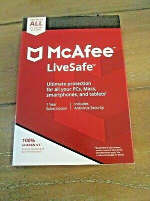 McAfee LiveSafe Ultimate Protection for PCs, Macs, Smartphones and tablets