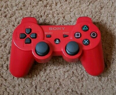 Official Sony PlayStation 3 Dualshock 3 Red Wireless Controller PS3 Genuine