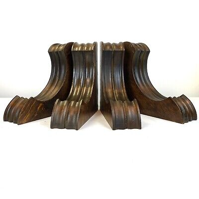"""Set of 4 Antique Wood Corbels 8"""" Tall ARCHITECTURAL SALVAGE - Sconces - Brackets"""