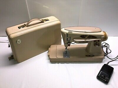 EXC Singer 503A 503 Rocketeer Sewing Machine 403 Type Serviced W/case