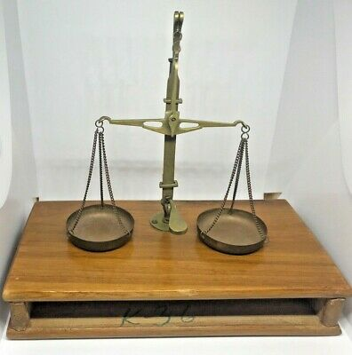 Vintage Apothecary Balance Scale With Weight Set--Model K36?