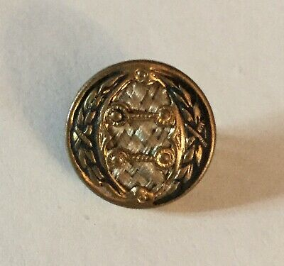 Antique Small Metal Fabric Perfume Old Button Color Tint