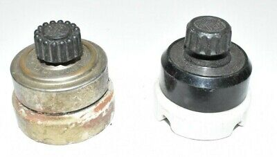 2 Vintage Rotary Wall  Surface Mount Light Switches, Perkins & Arrow Antique
