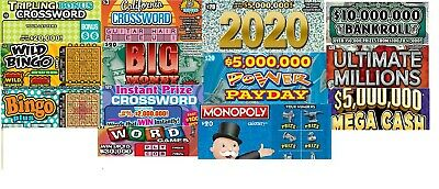 43 California Lottery Ticket Mix 2nd Chance $30,$20,& $3 FREE SHIPPING
