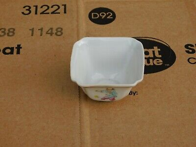 Small Antique Chinese Hand Painted Boys Quadrangular Porcelain Cup