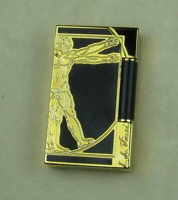 Dupont Cigar Lighter Ligne2 Chinese Black Lacquer Cling Sound Black&Gold No:02