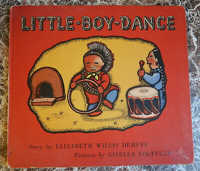 Little-Boy-Dance~ Signed by Gisella Loeffler, 1946, Taos Artist - Scarce