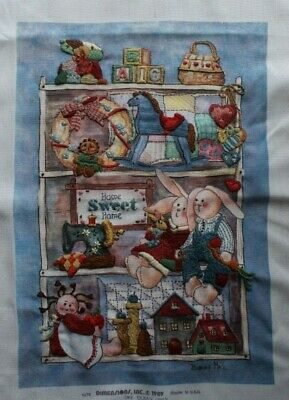 """""""Country Treasures"""" by Dimensions #1372 Crewel Embroidery Completed Finished"""