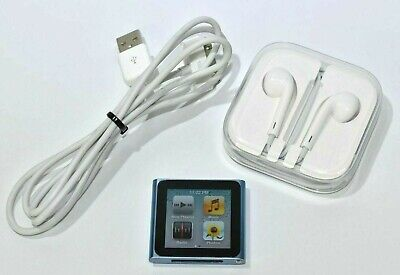 Apple iPod Nano 6th Generation 8GB MP3 Player A1366 with Headphones Charge Cable