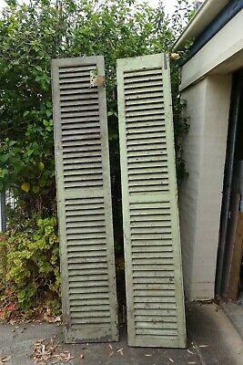 Two old wooden shutters antique Drummoyne