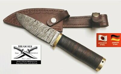 """Handmade custom Damascus Forged  KNIFE With Crafted 9"""" Approx"""