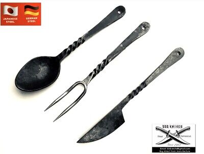 Handmade custom Rail Road Cutlery Set  Forged  KNIFE With Crafted 7 InchesApprox